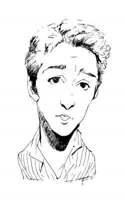Drawing of Rachel Maddow