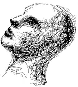 line art image of head