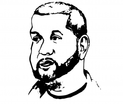 Drawing of person with beard
