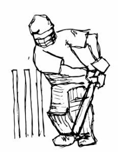 Drawing of a hockey player