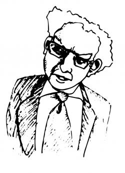 Drawing of Hadley Arkes