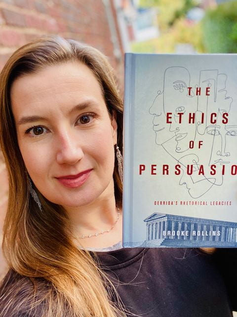 Selfie of author Rollins with The Ethics of Persuasion
