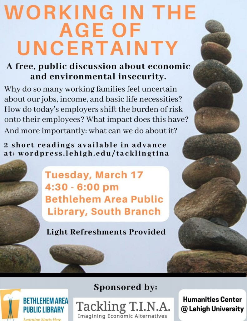 Working in the Age of Uncertainty Poster
