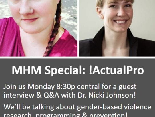 Dr. Johnson talks about Gender Based Violence on Twitch.TV check it out!