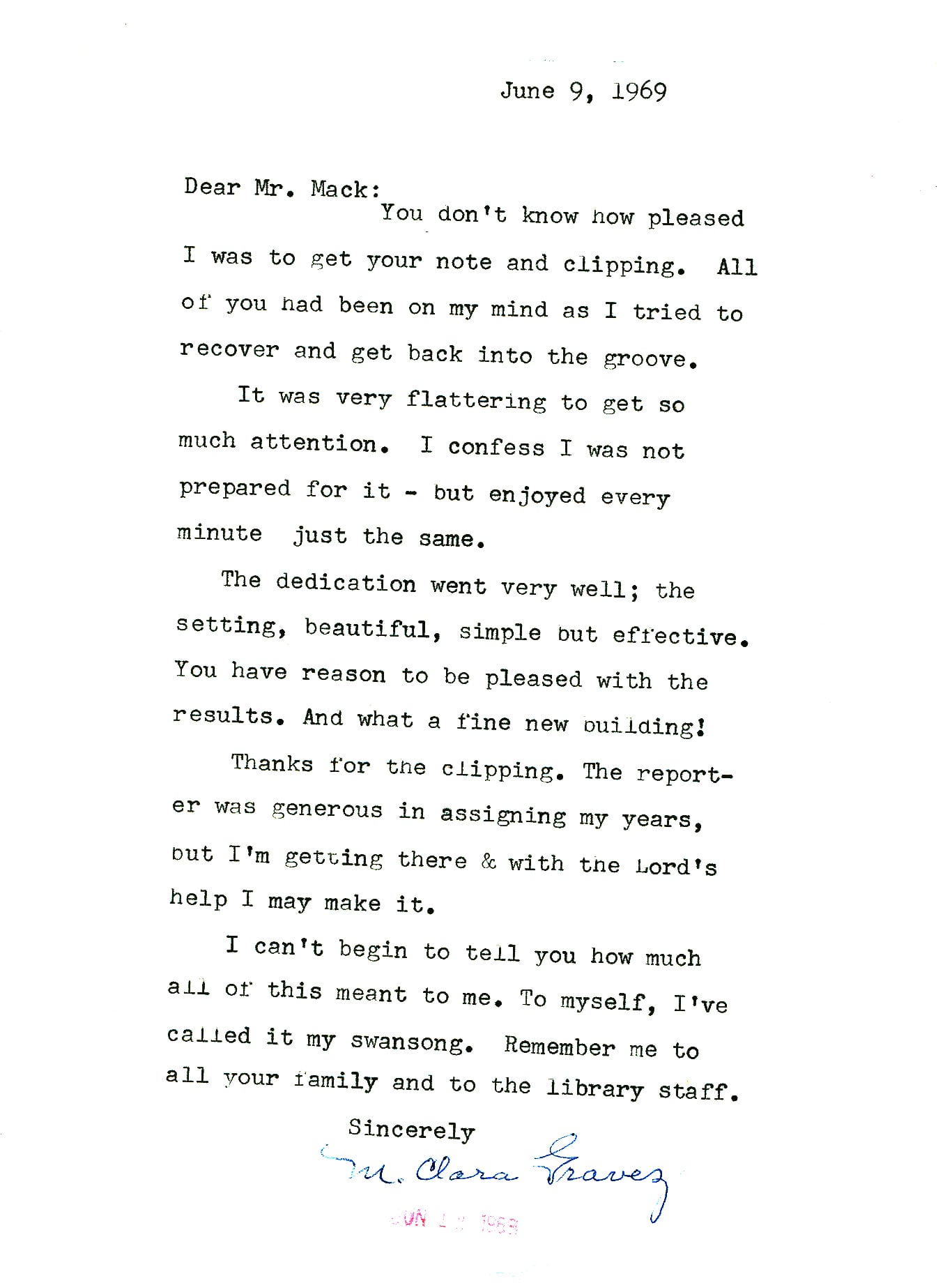 Gravez Thanks Letter After Career Fair