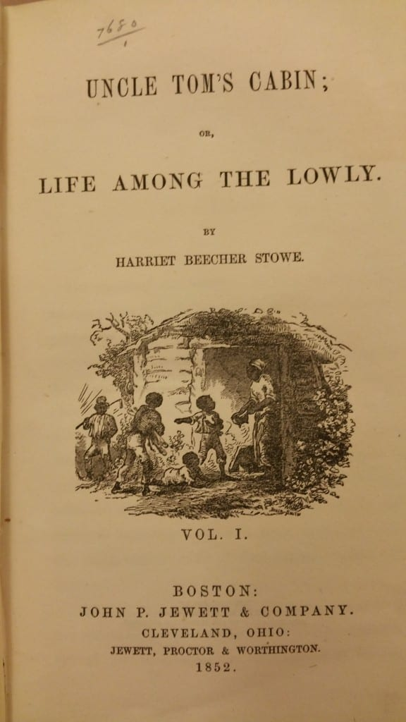 Uncle Tom's Cabin Title