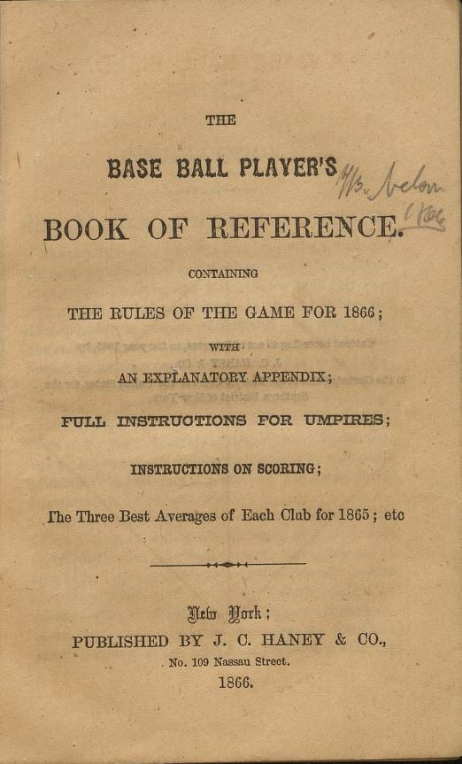 base ball title page