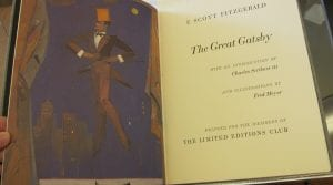 Frontispiece and title page from the Limited Editions Club The Great Gatsby