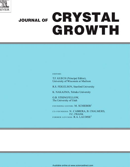 PI Siddha is co-editor of Special Issue in Journal of Crystal Growth