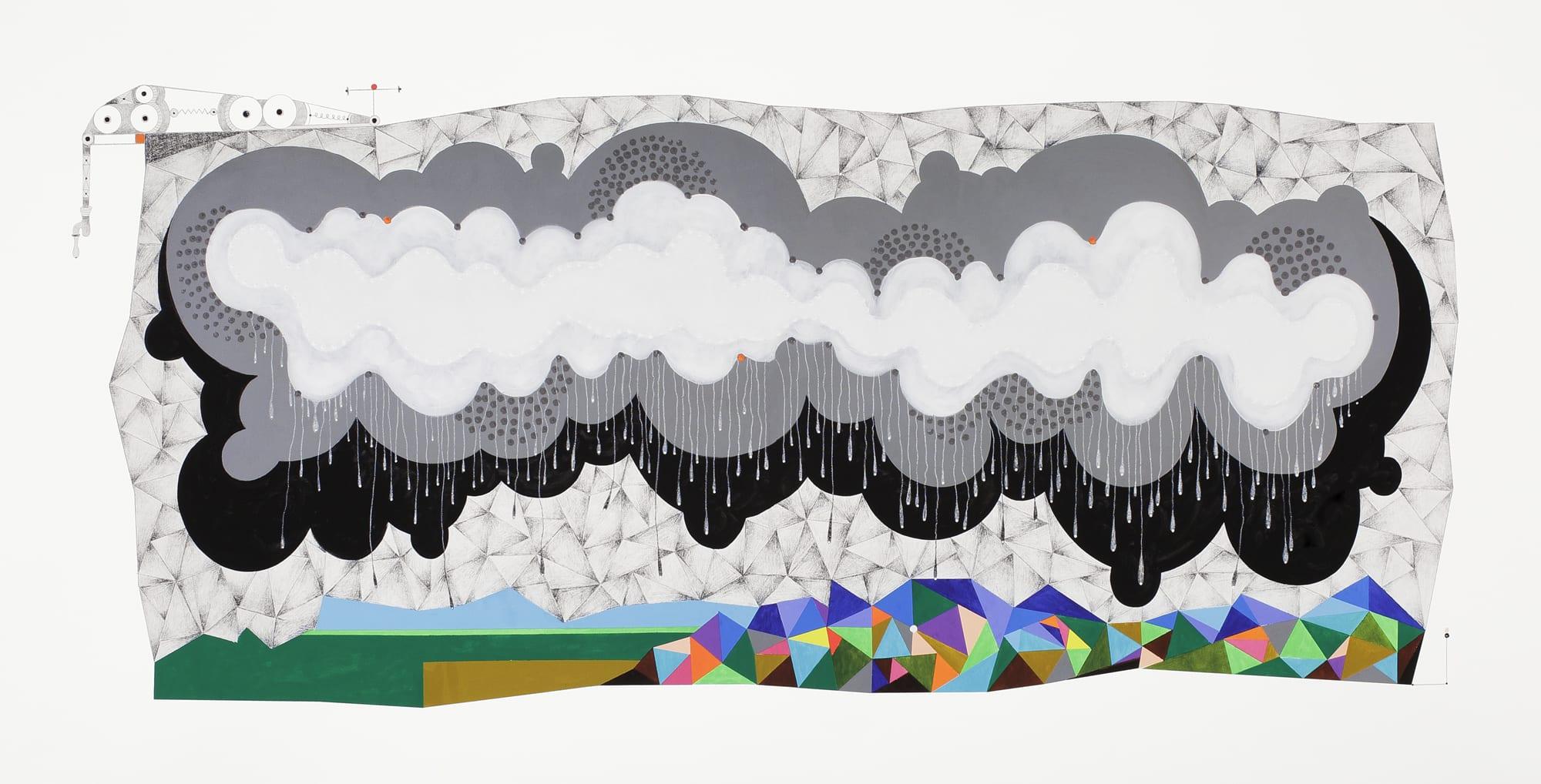 Cloud Pigment Print by Luis Cruz-Azaceta