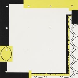 Funasaka Yoshisuke, Lemon, Black and White, 1972, Woodblock print, 84/100