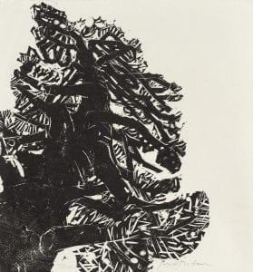 Matsubara Naoko, Pine, 1971, Woodblock print 72/100