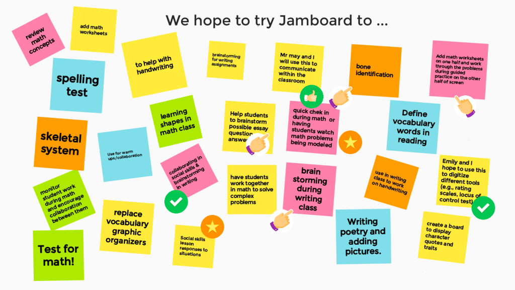 Jamboard ideas