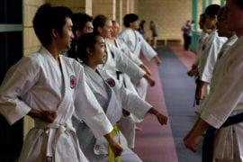 Martial Arts students practicing
