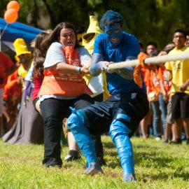 RA's compete in Tug-of-war