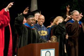 Gregory Washington and Michael Drake welcome new students