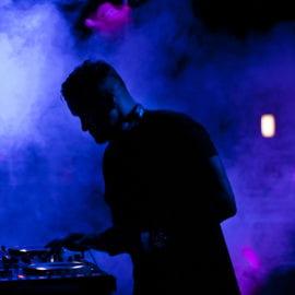 DJ performing during Welcome Week