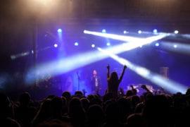 Students enjoying Aldrich Park After Dark concert