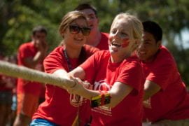 Middle Earth RA's compete in tug-of-war