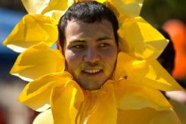Kyle Kim dressed as a flower