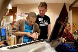 Erik Loza and Fradkin on the piano