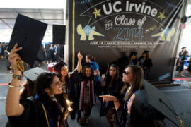 Graduating students at Commencement 2014