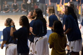 Women's Basketball team during 3-point contest