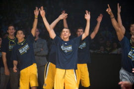 Men's Basketball team during 3-point contest