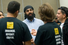 Students learn about Sikh faith during speed-faithing