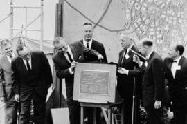 Lyndon B. Johnson dedicating campus