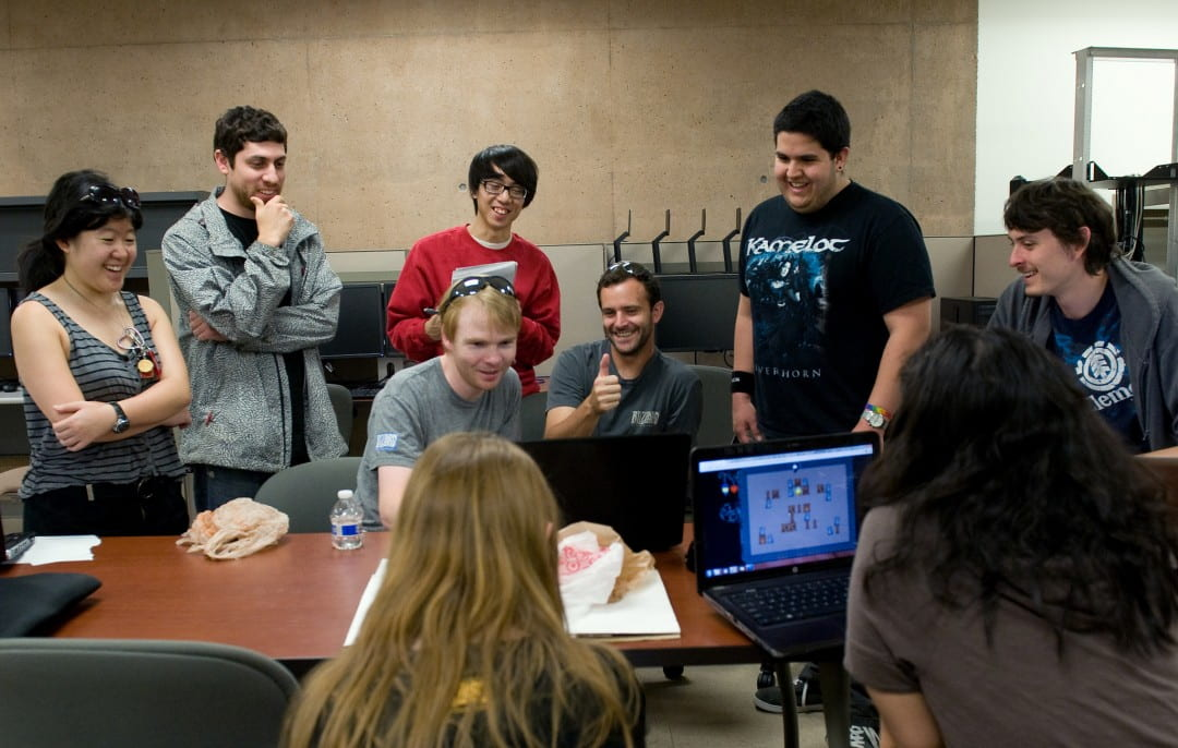 Computer Game Science students show off game