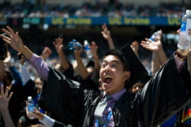 Graduating Student at Commencement
