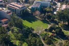 Aerial view of Aldrich Park