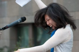 Natalie Chen celebrating her residency match