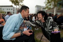 P.K. Fonsworth with friend Freada Kapor Klein