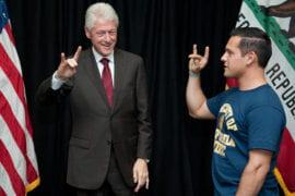 Jose Quintana with Bill Clinton