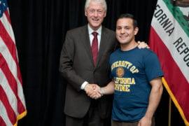 Bill Clinton and Jose Quintana