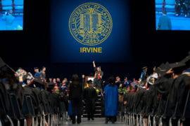 Graduates at Social Ecology commencement