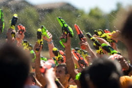 Students Firing into the air