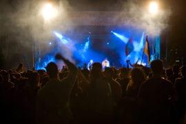 Crowd at Aldrich Park After Dark concert