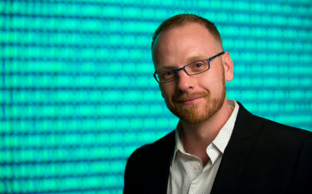 """""""This has been an incredible opportunity to support the development of a product that can help millions of people,"""" says Jed Brubaker, a Ph.D. candidate in informatics at UCI.  Steve Zylius / UC Irvine"""