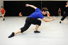 UCI dance students during an exercise