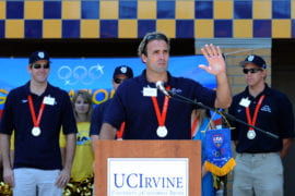 Jeff Power, Ryan Bailey and Tim Hutten speaking at an event