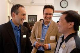 The Talesh brothers with Steve Taijiri