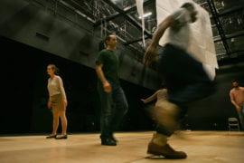 Actors prepare