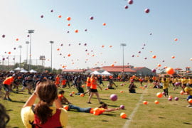 UCI reclaiming world record for largest dodgeball game