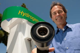 Jack Brouwer with hydrogen fuel pump