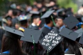 "Graduation Cap saying ""Thank you mom & dad"""