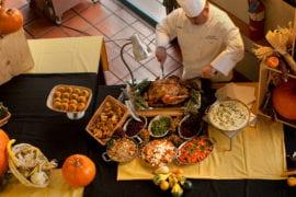 Paul Baca preparing Thanksgiving dinner