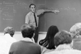 Rowland teaches a chemistry class
